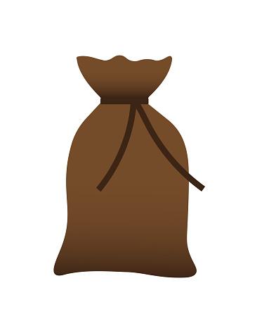 brown burlap sack