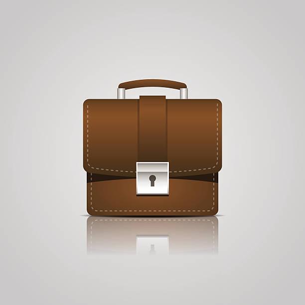 brown business aktentasche-symbol - kanzlerin stock-grafiken, -clipart, -cartoons und -symbole