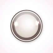 Brown button for your design, icon