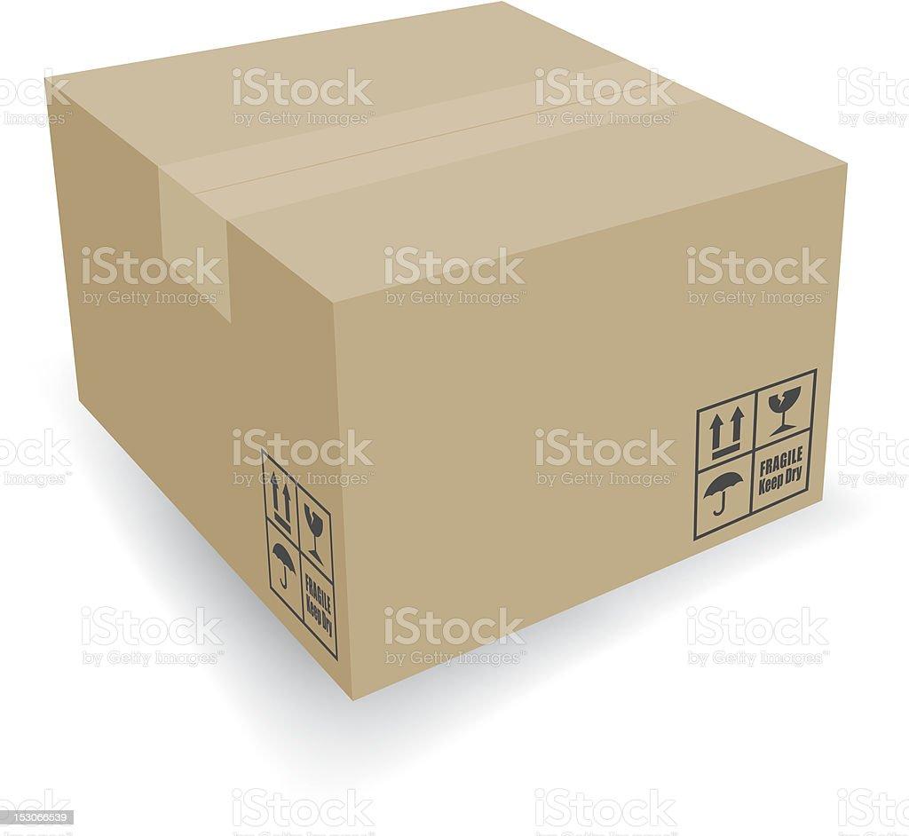 Brown Cardboard Shipping Box royalty-free brown cardboard shipping box stock vector art & more images of adhesive tape