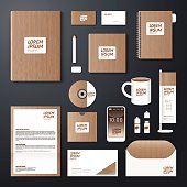 Vector brochure, flyer, magazine cover booklet poster design template/ layout blank business stationery annual report A4 size/ set of corporate identity template.
