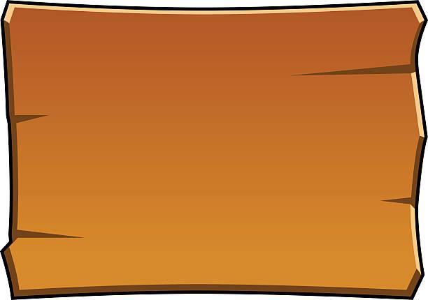 Cartoon Wood Board ~ Royalty free wood post clip art vector images