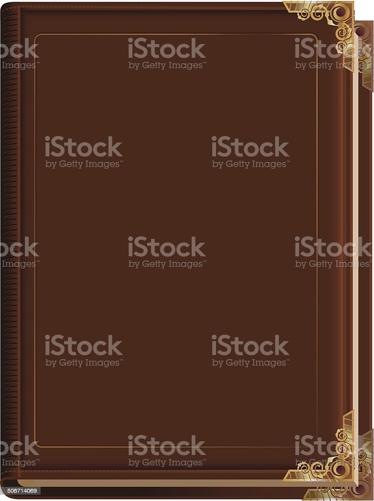 royalty free leather book cover clip art vector images rh istockphoto com open book cover clipart book cover clipart free
