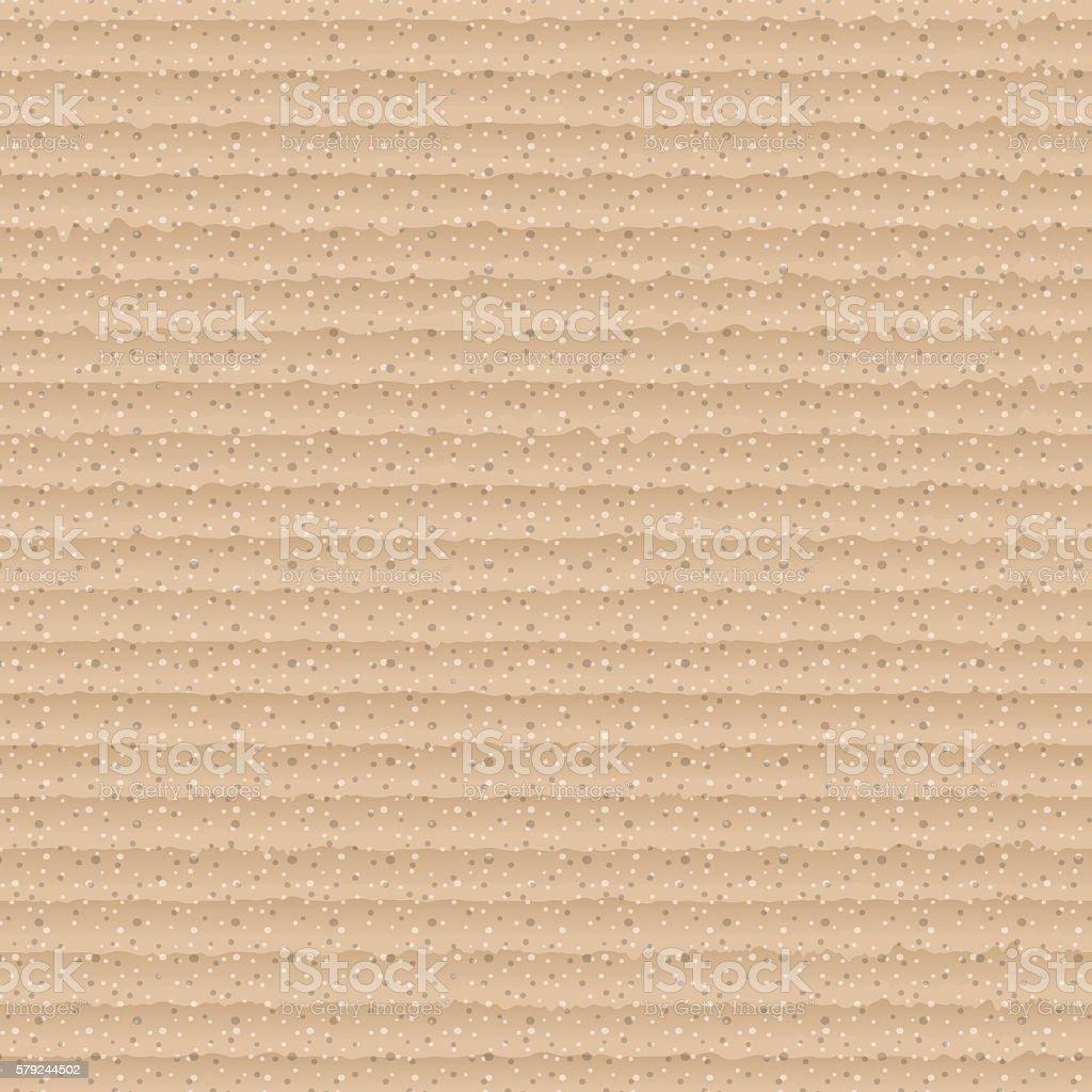 Brown corrugated cardboard vector art illustration