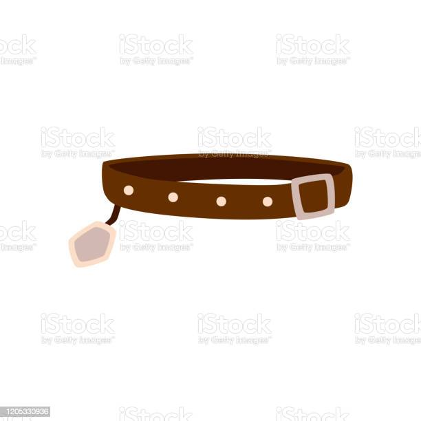 Brown dog collar isolated on white background flat vector vector id1205330936?b=1&k=6&m=1205330936&s=612x612&h=pj iubtzpxf58xxor6nxrkdznlrhsht plluc582s7w=