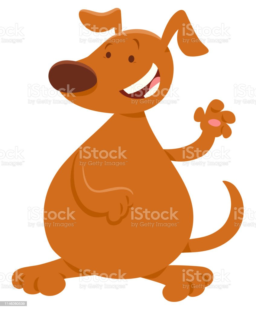 Brown Dog Or Puppy Cartoon Character Stock Illustration Download