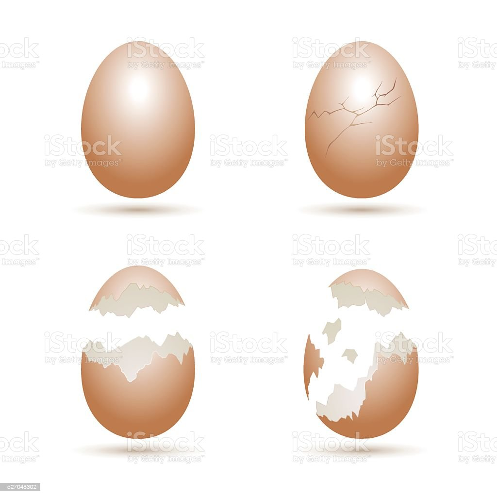 Royalty Free Cracked Egg Clip Art Vector Images Illustrations