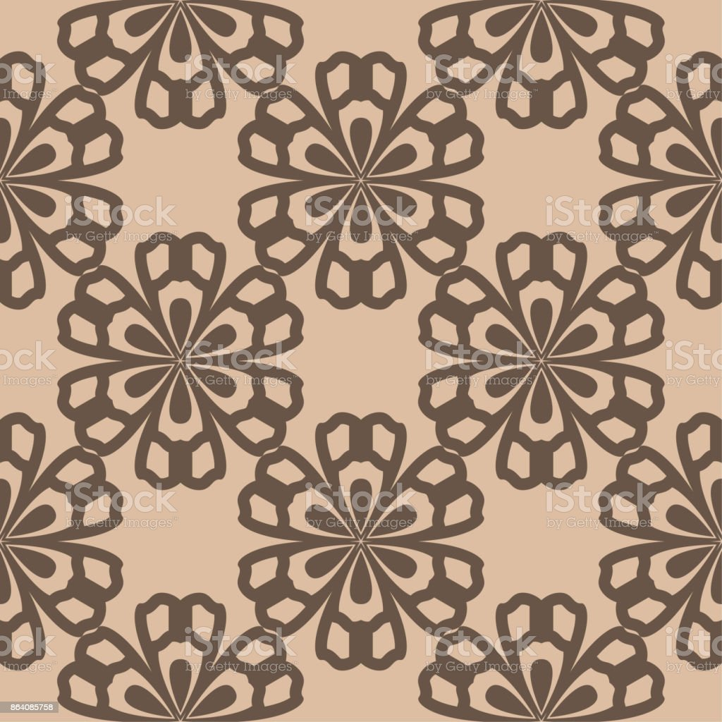 Brown floral seamless pattern on beige background royalty-free brown floral seamless pattern on beige background stock vector art & more images of abstract