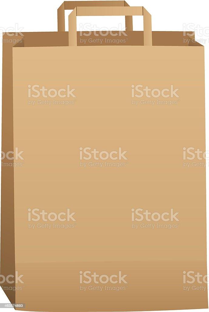 Brown Grocery Bag vector art illustration