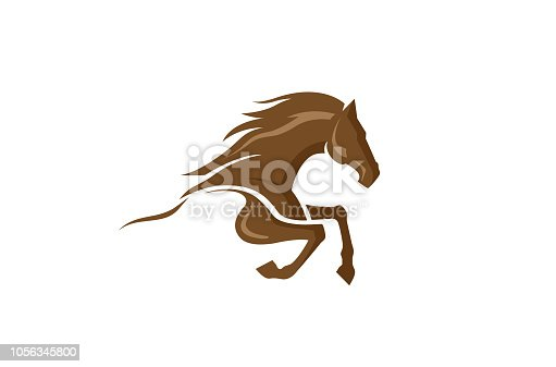 Brown Horse Logo Design Illustration