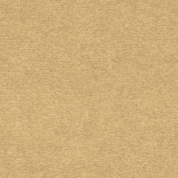 Brown kraft paper with speckle seamless vector texture. Close-up of old cardboard or parchment background. vector art illustration