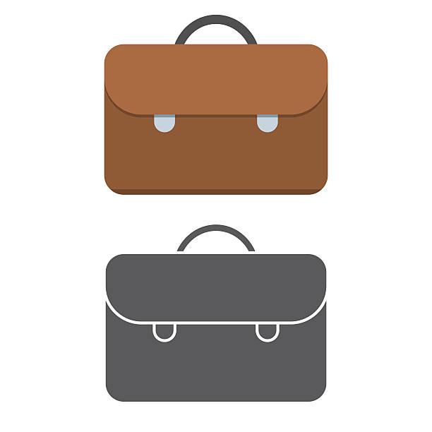 brown leather hand bag - lederranzen stock-grafiken, -clipart, -cartoons und -symbole
