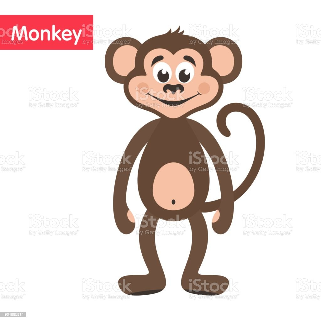 Brown Monkey. royalty-free brown monkey stock vector art & more images of africa