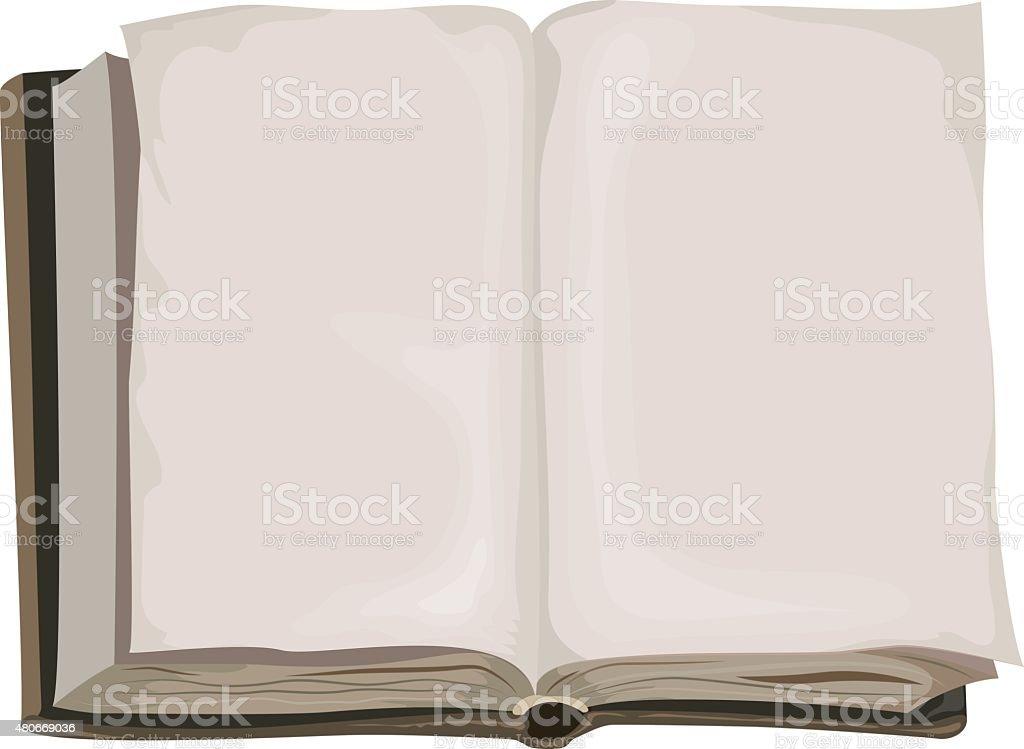 Braun alte offenes Buch – Vektorgrafik
