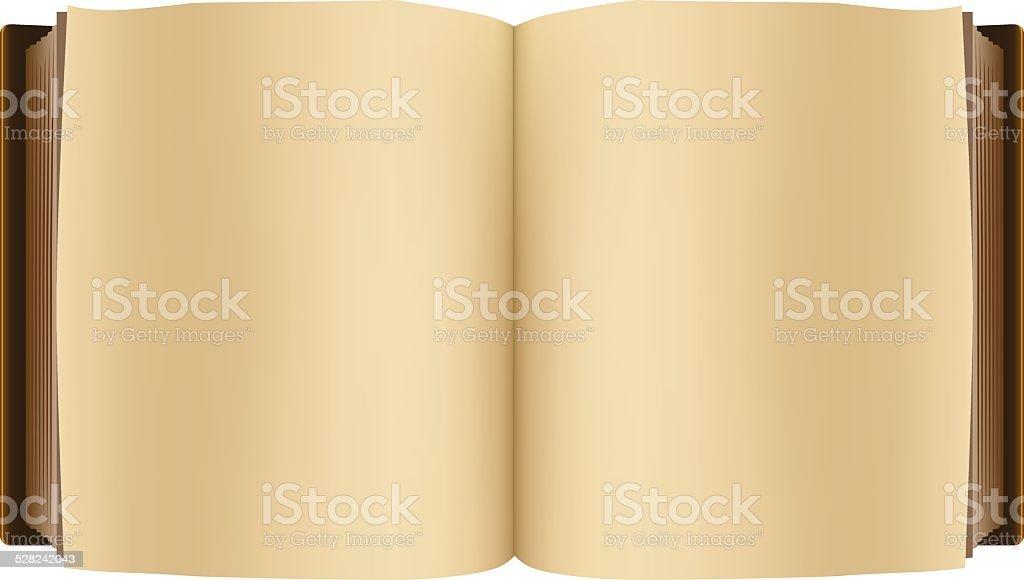 Brown open Buch – Vektorgrafik
