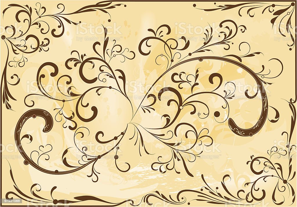 Brown ornament royalty-free brown ornament stock vector art & more images of abstract
