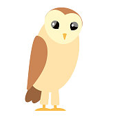 brown owl flat illustration