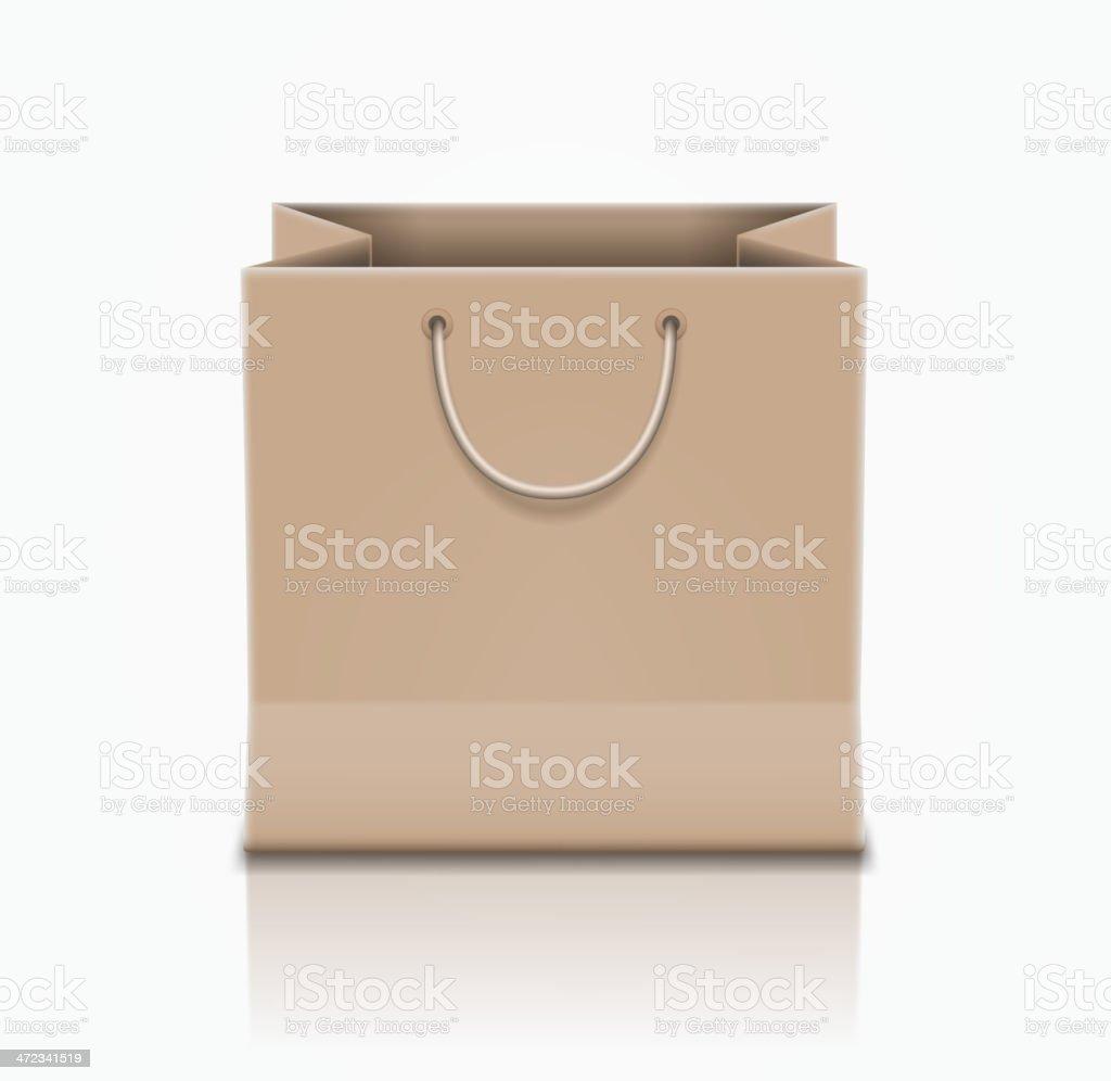Brown paper bag. royalty-free stock vector art