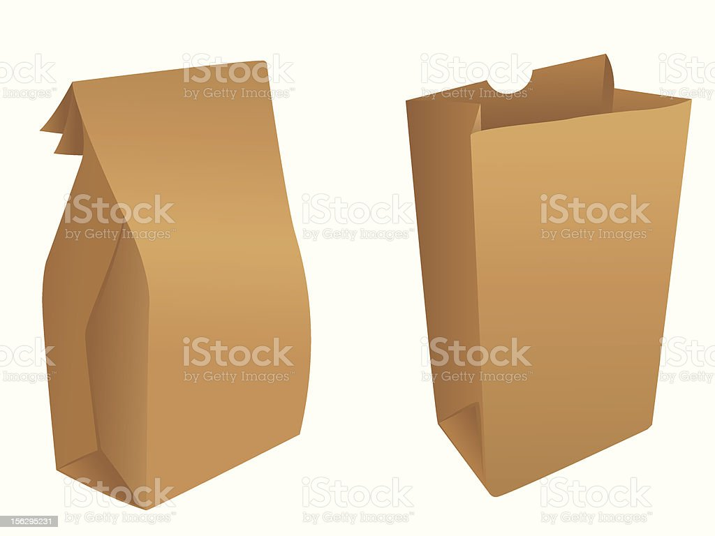 Brown paper bags royalty-free stock vector art