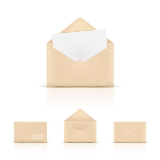 Packpapier Umschläge – Vektorgrafik