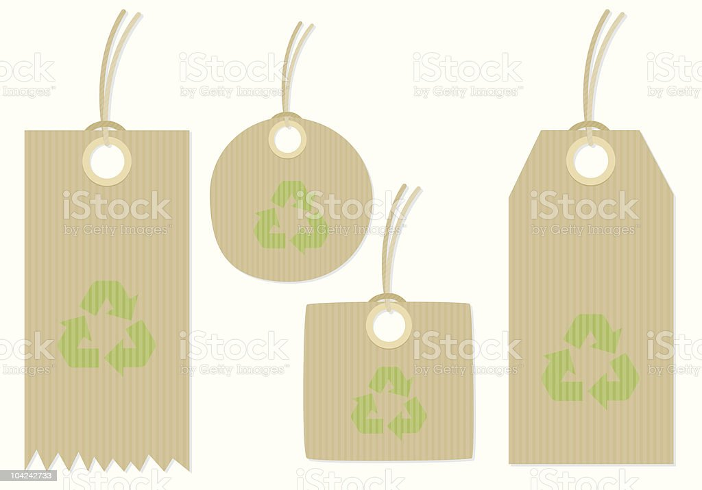 Brown paper tags vector art illustration