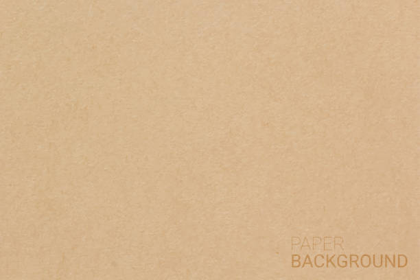 brown paper texture background. vector illustration eps 10. - papier do pakowania stock illustrations