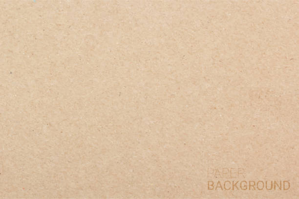 brown paper texture background. vector illustration eps 10 - papier do pakowania stock illustrations