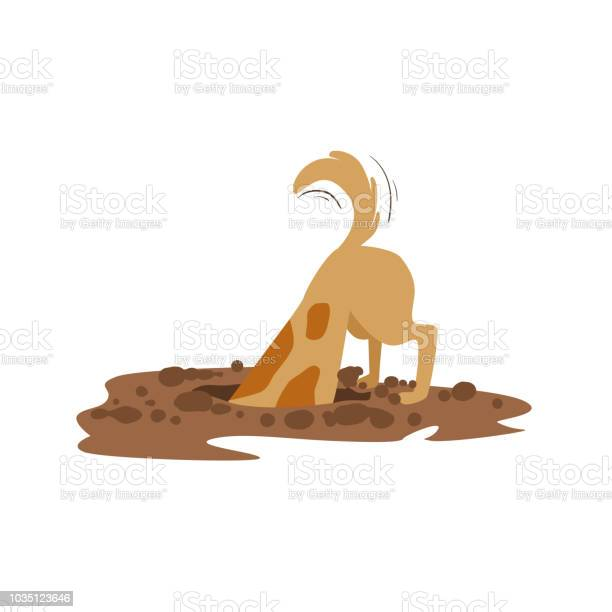 Brown pet dog digging the dirt in the garden animal emotion cartoon vector id1035123646?b=1&k=6&m=1035123646&s=612x612&h=6uz3hssbcyhmuee prg42dkmelurgkelvhcleeh 8yk=