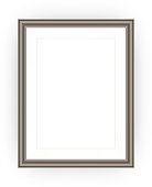 Brown picture frame with blank space