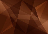 Brown polygonal background, abstract texture for advertising business, vector illustration