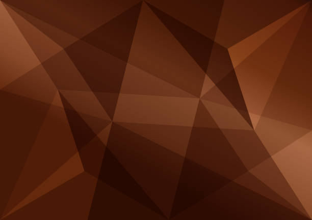 Brown polygonal background, abstract texture for advertising business, vector illustration Brown polygonal background, abstract texture for advertising business, vector illustration brown stock illustrations