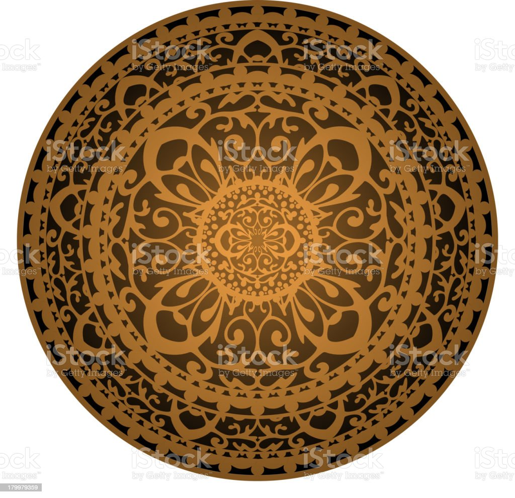 brown rug royalty-free stock vector art