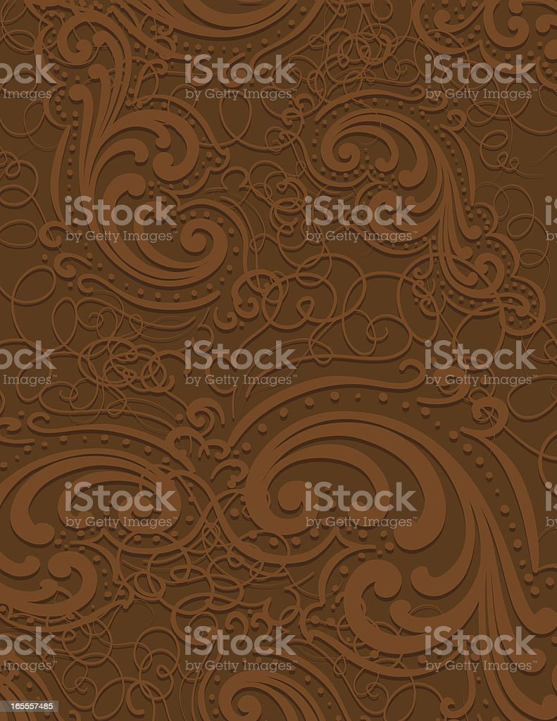 Brown Scroll Page royalty-free stock vector art