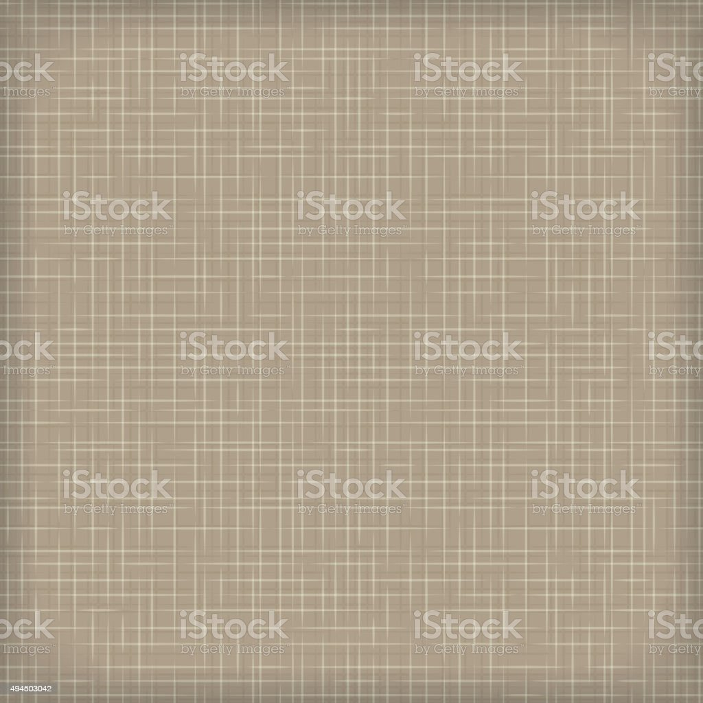 Brown seamless linen texture vector art illustration