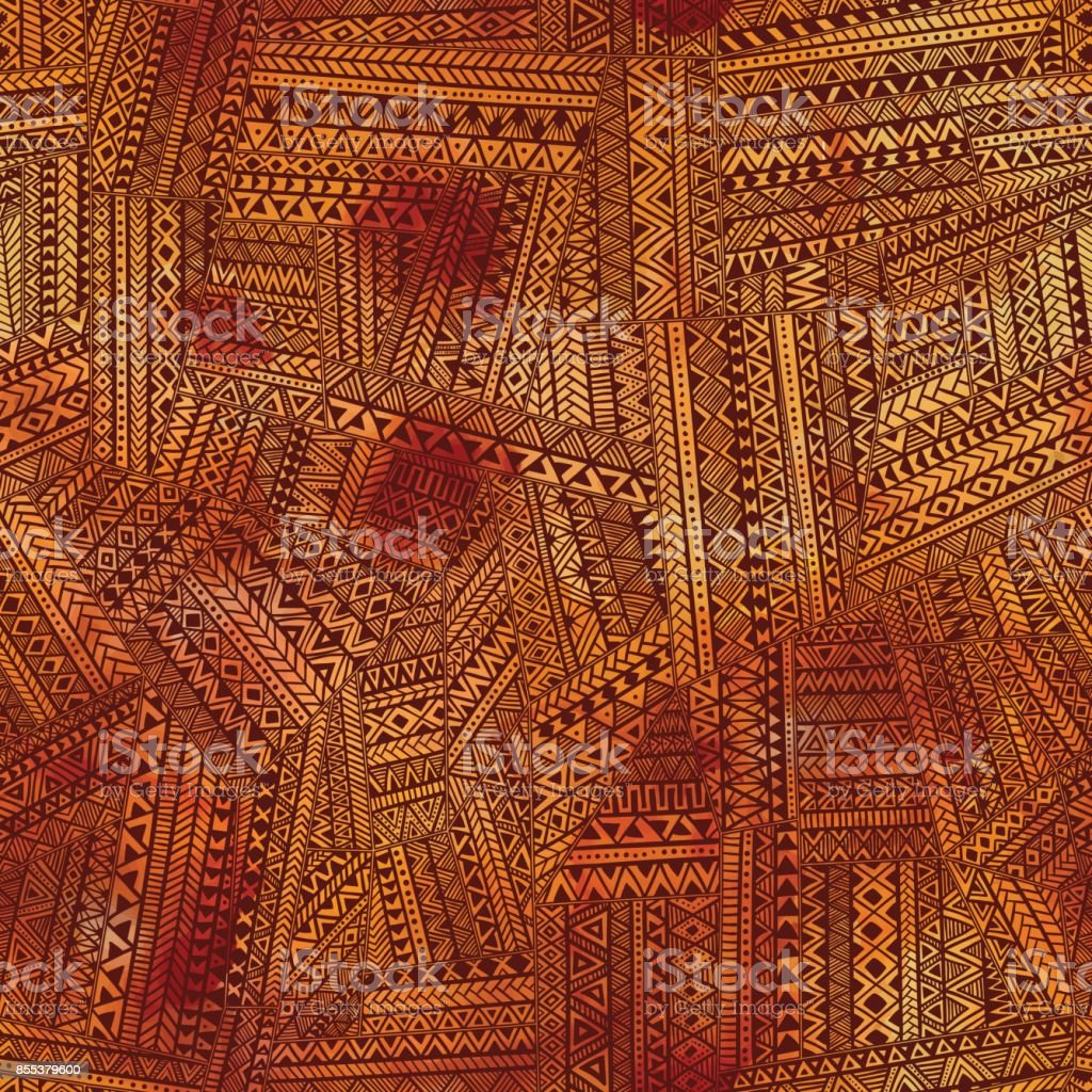 Brown seamless patchwork. Watercolor texture. vector art illustration