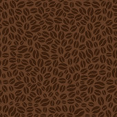 istock Brown seamless pattern with coffee beans. Vector illustration 1070152848