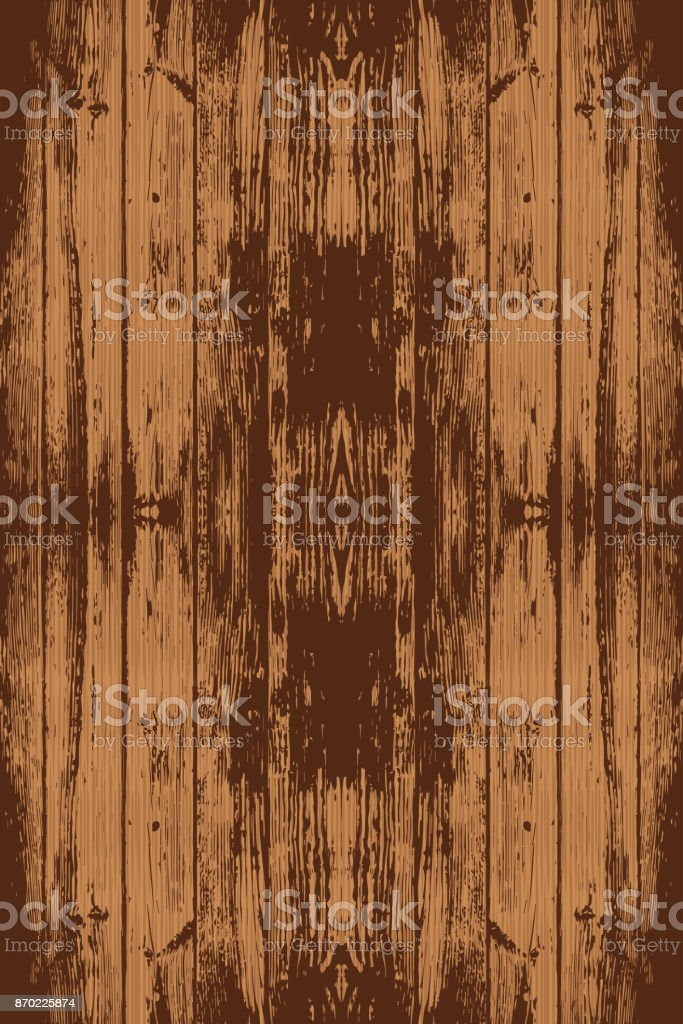 Brown seamless wooden texture. Vector. Planks background. vector art illustration