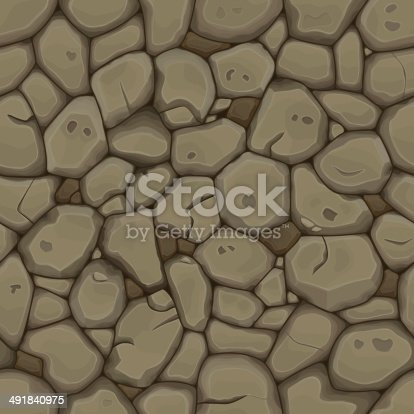 Brown stone seamless background. Vector illustration