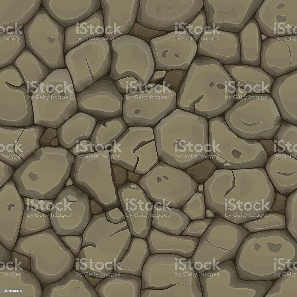 Piedra fondo sin costuras marrón - ilustración de arte vectorial
