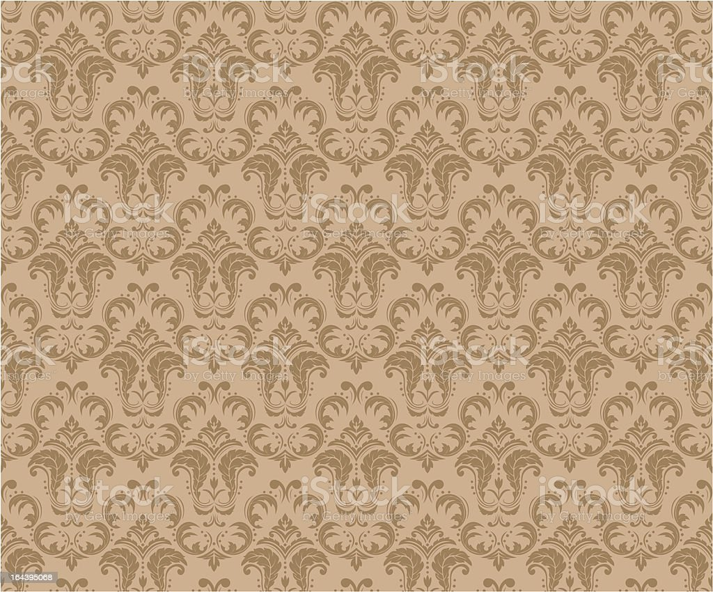 A brown vintage seamless pattern royalty-free stock vector art
