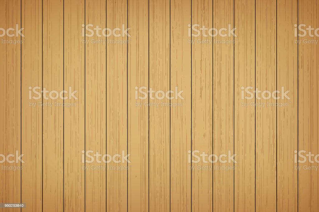 Brown wood plank texture background vector art illustration