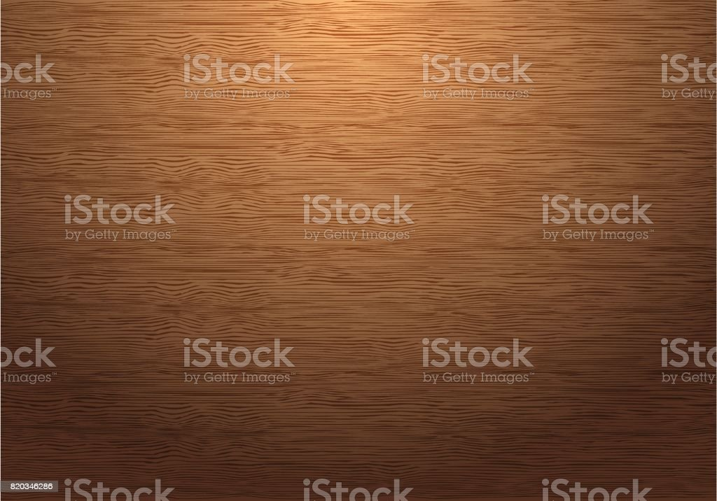 Brown wood plate texture pattern with down light vector background illustration. vector art illustration
