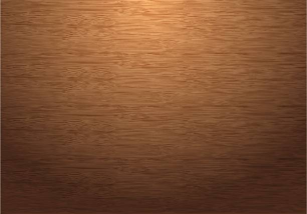 brown wood plate texture pattern with down light vector background illustration. - wood texture stock illustrations