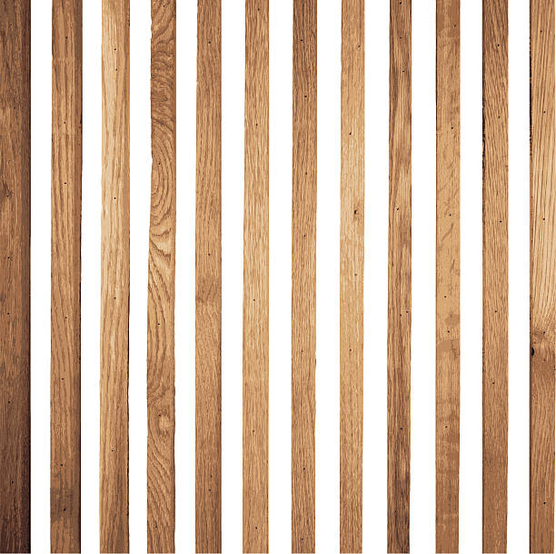 stockillustraties, clipart, cartoons en iconen met brown wood stripe background vector - plank timmerhout