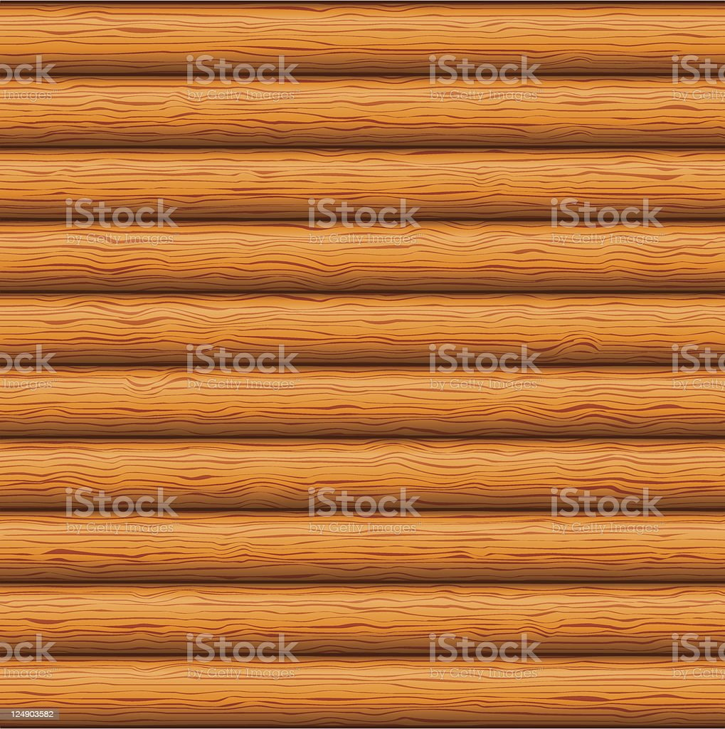 Brown wood wall with horizontal indentations royalty-free stock vector art