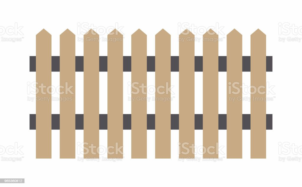Clôture en bois brun - clipart vectoriel de Affiche libre de droits