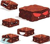 Brownie Cartoon Set B