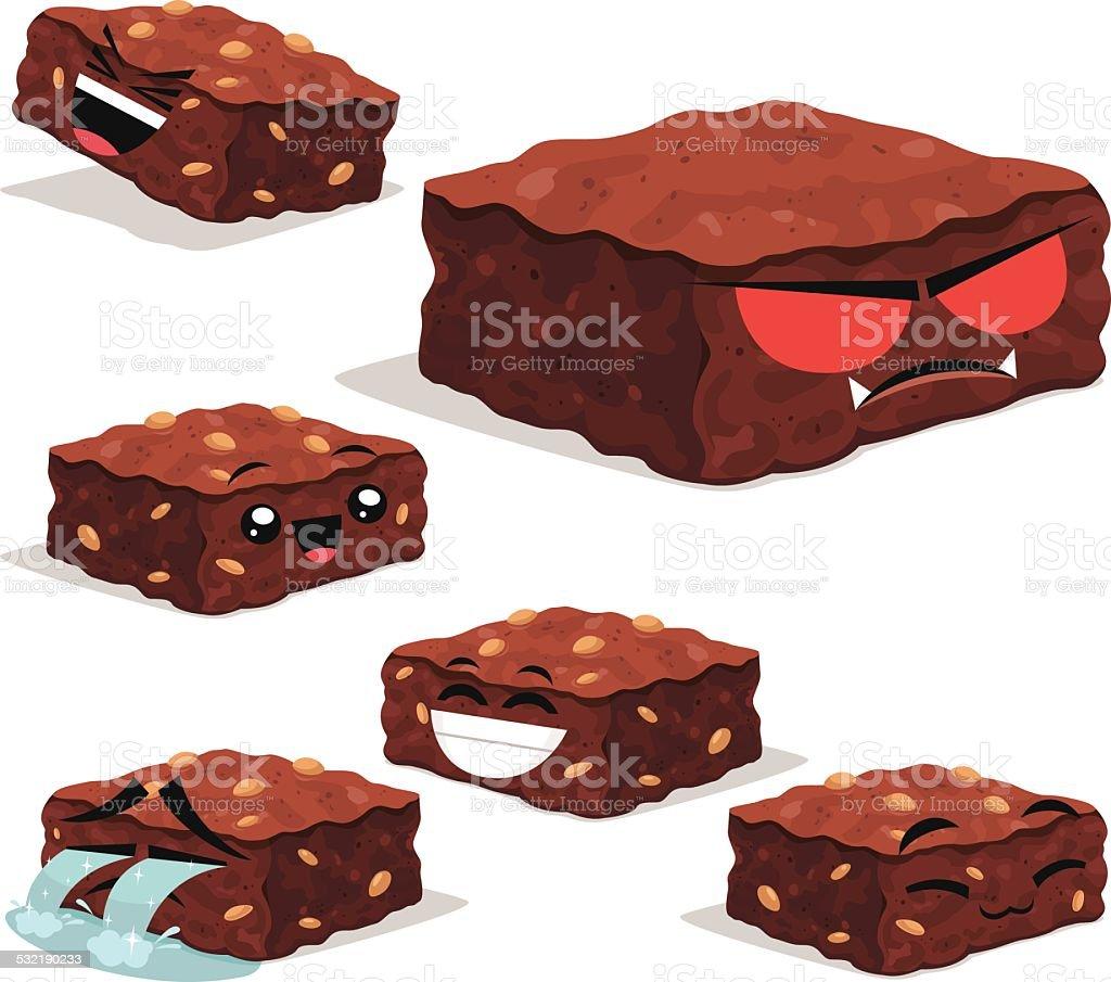 Brownie Cartoon Set B vector art illustration
