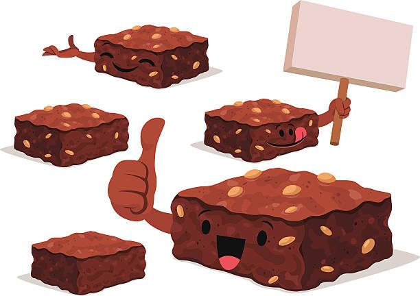 bildbanksillustrationer, clip art samt tecknat material och ikoner med brownie cartoon set c - brownie
