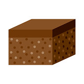 istock Brownie Icon on Transparent Background 1282383262